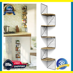 Corner Shelf Wall Mount of 5 Tier Rustic Wood Floating Shelves Wall for Any Room $34.55
