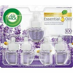 Air Wick Plug in Scented Oil 5 Refills Lavender and Chamomile 5x0.67oz Esse $11.18