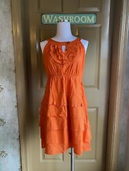 Vintage Maeve Anthropologie Orange Dress