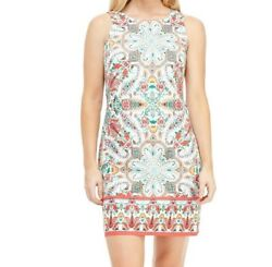 NEW London Times Kristy Shift Paisley Dress Lightweight Breathable Summer 10 $39.00