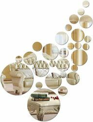Solid Circle Wall Stickers Circle Mirror DIY Living Room Bedroom Decoration 28pc $15.15
