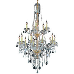 CRYSTAL CHANDELIER FRENCH PENDANT QUALITY FOYER CEILING LIGHTING 15 LIGHT 52quot; $978.00