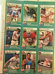 JACK NICKLAUS 1990 GOLF MASTERS SPORTS ILLUSTRATED SI FOR KIDS CARD SHEET $24.99