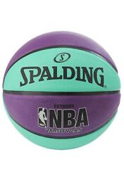 Spalding Varsity NBA 28.5quot; Mid Size Outdoor Basketball Teal Purple New $21.00