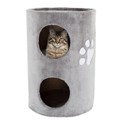 PETMAKER Cat Condo 2 Story Double Hole with Scratching Surface 14quot; x 20.5quot; $58.53