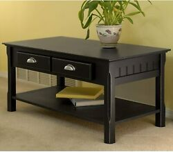 Coffee Table With Shelf amp; Drawer Sofa Tea Side Table Living Room Furniture $89.99