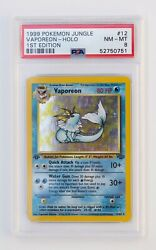 1999 Pokemon Jungle 1st Edition Vaporeon Holo #12 of 64 Near Mint PSA 8 $400.00