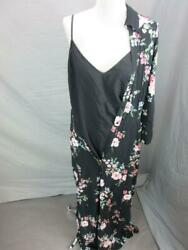 INC INTERNATIONAL CONCEPTS SIZE 12 WOMENS BLACK LONG SLEEVE MAXI DRESS T035 $18.99