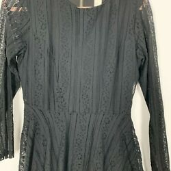 Hamp;M Black Lace Long Sleeve Dress Size 8 Date Night or Night out With Friends.  $18.00
