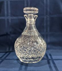 Vintage Crystal Brilliant Decanter with Glass Stopper Cut Glass 8.5quot; tall $23.80