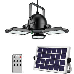 Solar Powered Garage Lights Indoor Outdoor amp; Remote Control 60LED Shop Camping $53.81