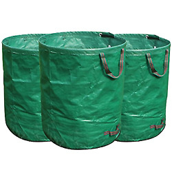 FLORA GUARD 3 Pack 72 Gallons Garden Waste Bags Heavy Duty Compost Bags with $29.99