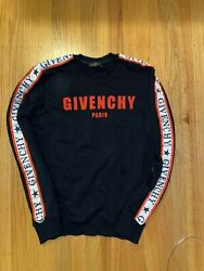 Givenchy sweatshirt with logo print black And Red M new men $265.00