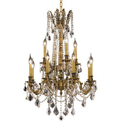 ASFOUR CRYSTAL CHANDELIER FRENCH GOLD DINING ROOM KITCHEN LIGHTING 12 LIGHT 36quot; $3284.00