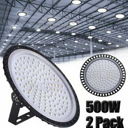 2X 500W UFO LED High Bay Light Shop Lights Warehouse Commercial Lighting Lamp