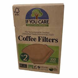 New If You Care Coffee Filters No 2 Size Compostable Unbleached 100 count $8.88