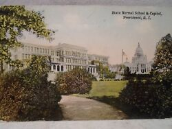 Providence R I Rhode Island Capitol and Normal School early postcard $12.99