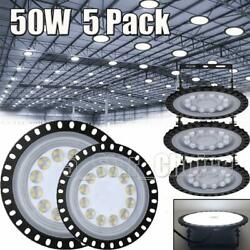5X 50W 50 Watt UFO LED High Bay Light Shop Lights Commercial Lighting Fixture