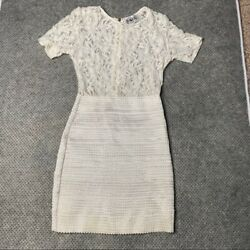 Sabo Skirt White Mini Lace Sheer Dress Size 6 $24.95