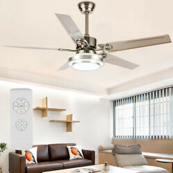52#x27;#x27; Modern Ceiling Fan Light LED Chandelier Lamp Dimmable Remote Control 5Blade $115.99
