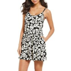 Kate Spade Aliso Beach Black White Floral Swimsuit Bathing Cover Up Romper Nwt M $45.99