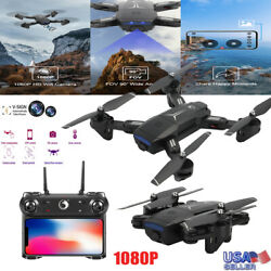Mini Drones With HD Camera 4K 1080P Remote WiFi FPV Foldable RC Quadcopter US $29.99
