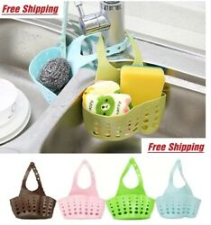 Kitchen Organizer Sink Caddy Basket Dish Sponge Holder Soap Dispenser $4.95