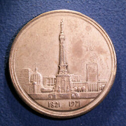 Medallic Art Co. Silver medal Sesquicentennial of Indianapolis Indiana $18.99