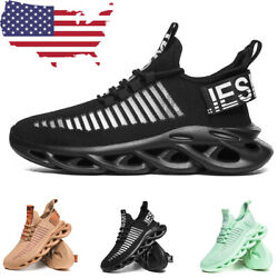 Men#x27;s Running Sports Shoes Casual Sneakers Athletic Jogging Tennis Trainers Gym $26.99