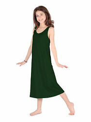 Lori Jane Big Girls Hunter Green Trendy Maxi Dress 6 16 $33.30