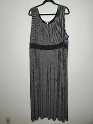 Woman within 2X 26 28 dress sleeveless polka dot maxi plus size $25.00