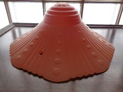Antique Light Shade Chain Hanging Salmon Pink $27.50