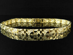 Mens and Ladies 14K Yellow Gold Over Nugget Style Link Designer 8 Inch Bracelet $148.79