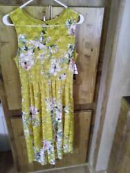 2 New As U Wish yellow and blue floral sundresses size XS never worn $20.00