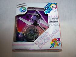 New RC Flying Disco Ball Colorful LED Disco RC Helicopter Toy Great Gift $2.99