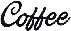 Coffee Word Art Sign Kitchen Home Decor Wall Hanging Cursive Script Typography $9.99