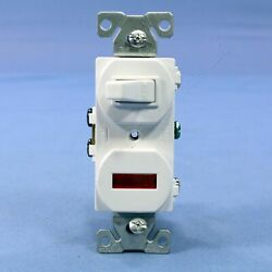 NIB Cooper Commercial White Pilot Light Toggle Switch Single Pole 15A 277W Boxed