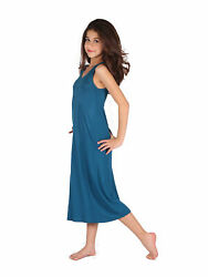 Lori Jane Big Girls Teal Trendy Maxi Dress 6 16 $33.30