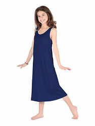 Lori Jane Big Girls Navy Trendy Maxi Dress 6 16 $33.30