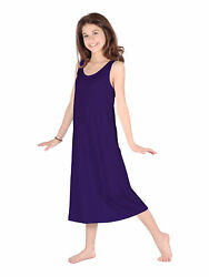 Lori Jane Big Girls Eggplant Trendy Maxi Dress 6 16 $33.30