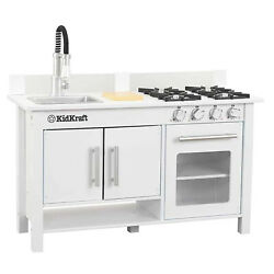 KidKraft Little Cook Wooden Modern Kitchen Workstation Playset with Oven amp; Sink $89.99