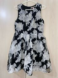 floral dress black and white dresses women clothing $18.00