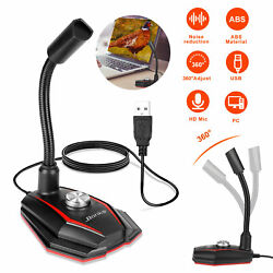 USB Microphone Audio Recording Mic Studio Gaming for PC Desktop Computer Laptop $15.98