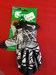 Touth Size Large Cutter Gloves Football With Sticky Grip New $15.00