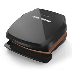 George Foreman 2 Serving Copper Color Classic Plate Grill Electric Indoor Grill $19.49