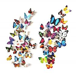 80 PCS 3D Butterfly Wall Room Decor Decorations For Teen Girls Bedroom $11.18