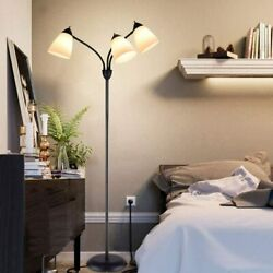 Modern Standing Floor Lamp 3 Lights Adjustable LED Reading Light for Living Room $46.51