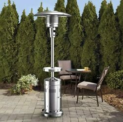 Commercial Patio Heater wheeled piezo electric starter adjustable LED table