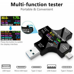2 in 1 USB Meter Tester IPS Screen Digital Type C DC Voltage Current Monitor $19.24