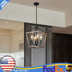 4 Light Pendant Dining Room Ceiling Lighting Farmhouse Rustic Hanging Lamp E12 $68.00